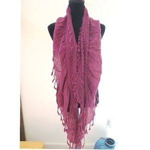 New Scrunched Ruffle Scarf